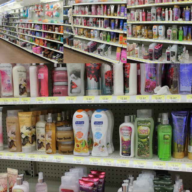 Find Softsoap Body wash in the Walmart Cosmetics Section