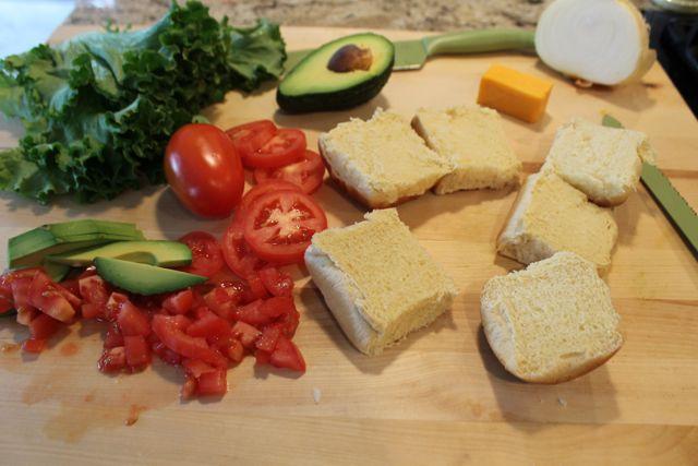 Prepare your black bean salsa slider toppings