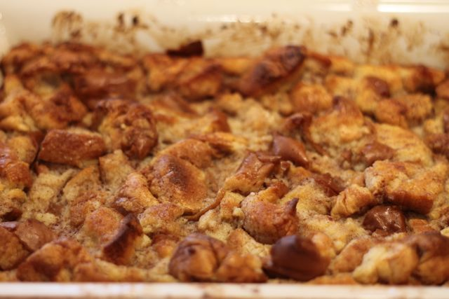 Coconut Bread Pudding with coconut milk and coconut extract from HappyandBlessedHome.com