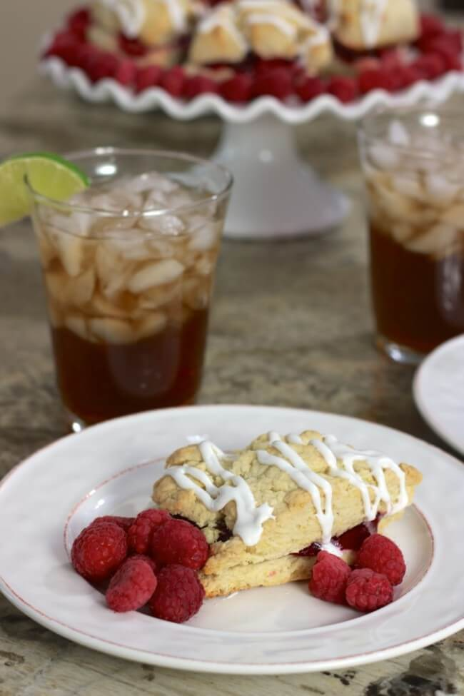 Milo's Sweet Tea and Raspberry Scones - perfect holiday entertaining