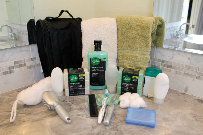 Irish Spring Essentials and How to pack a men's toiletry bag from HappyandBlessedHome.com