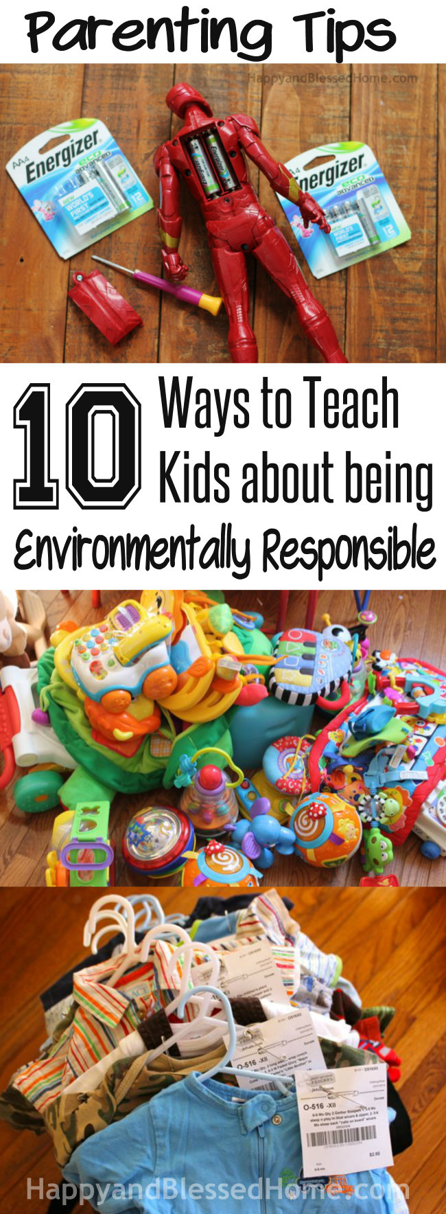 Parenting Tips Environmentally Responsible from HappyandBlessedHome.com