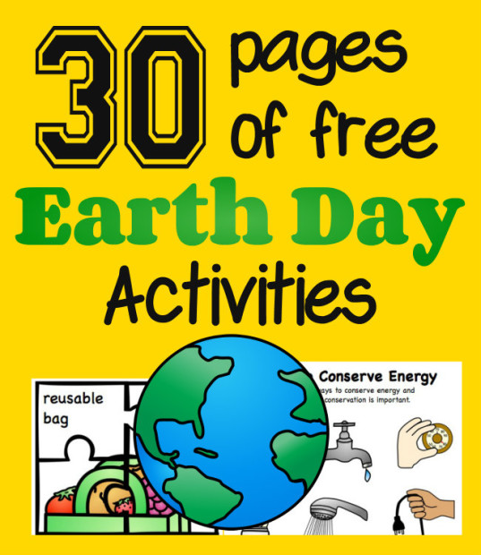 Square 30 Pages of Free Earth Day Activities from HappyandBlessedHome.com