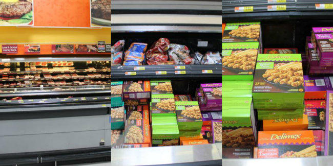 Where to find Delimex White Meat Chicken Taquitos and Delimex Beef Tamales at Walmart