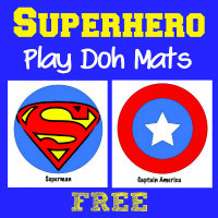 200 Superhero Play Doh Mats Fun Activity for Kids from HappyandBlessedHome
