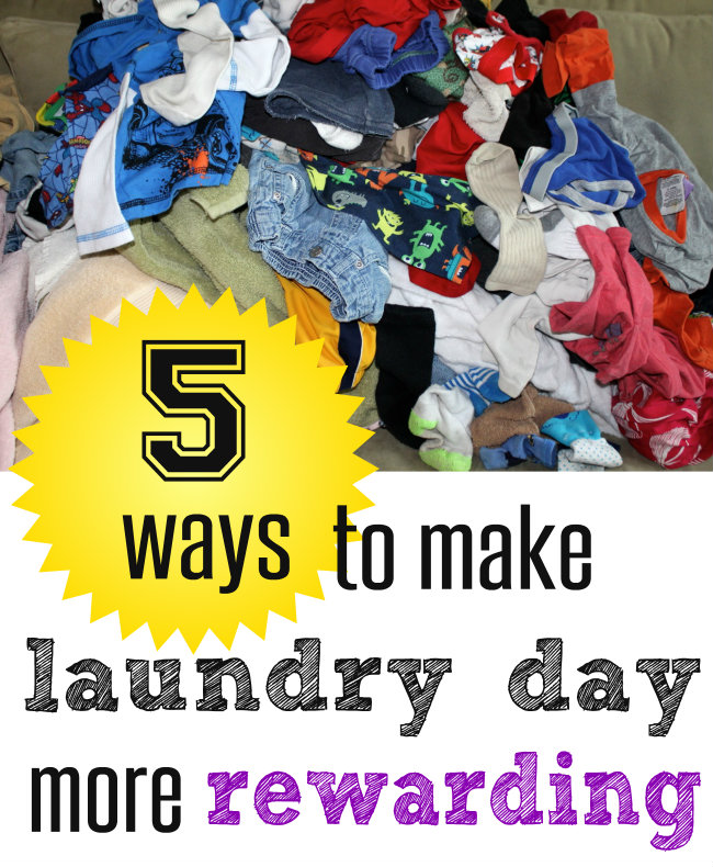 5 Ways to make Laundry Day more Rewarding Button from HappyandBlessedHome.com