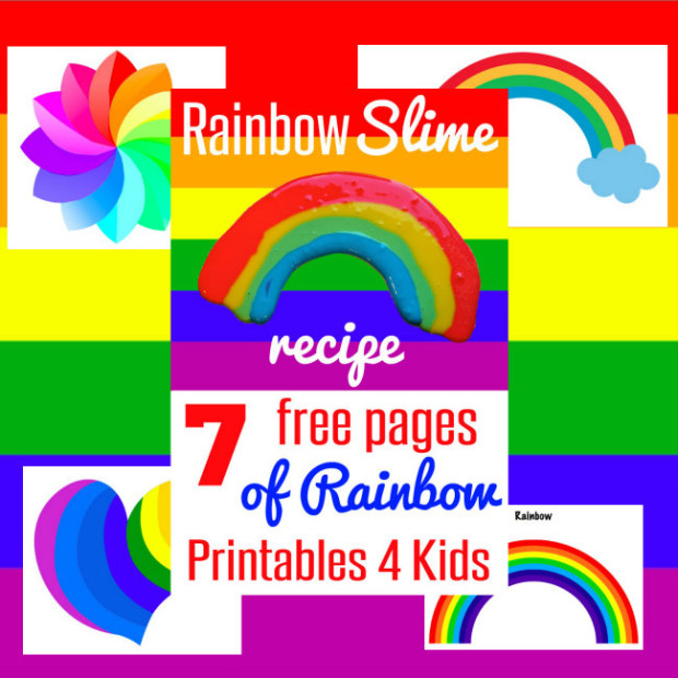 7 Pages of Free Rainbow Printables for Kids from HappyandBlessedHome.com