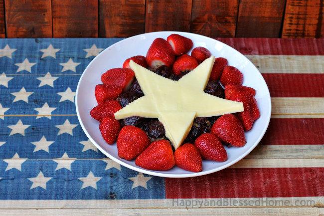 All American Blue Corn Chip Turkey Balls and American Flag Turkey Skewers