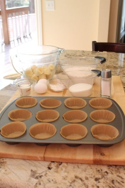 Carmel Banana Muffins