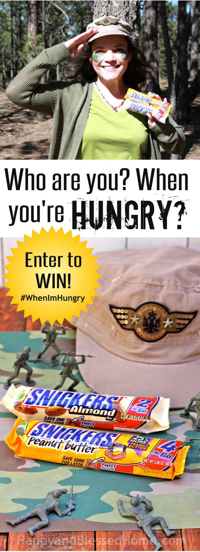 Enter to WIN the SNICKERS Who are you when you're hungry contes - Entry details at HappyandBlessedHome.com.jpg