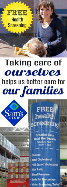 Free Sam's Club Health Screenings for Healthier Living artcile at HappyandBlessedHome.com