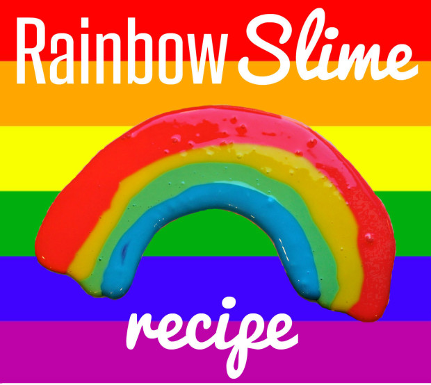 picture relating to Slime Recipe Printable known as Cost-free Rainbow Printables and Straightforward Rainbow Slime Recipe