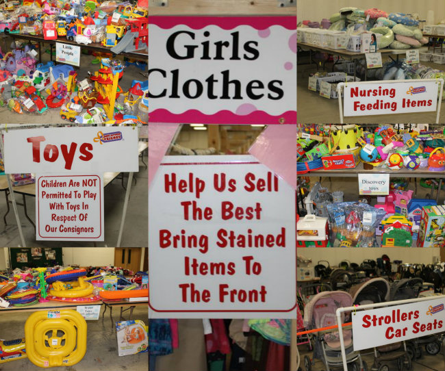 Gently Used Clothes and Toys for Sale at A Just Between Friends Consignment sale