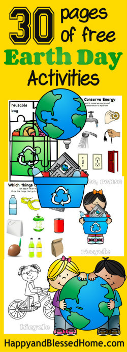 Icon 30 Pages of Free Earth Day Activities for Kids from HappyandBlessedHome