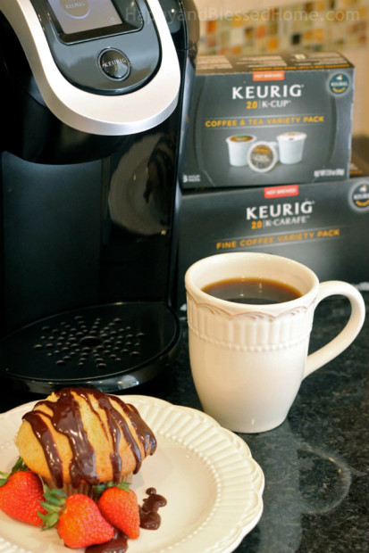 Keurig and my Carmel Banana Muffin from HappyandBlessedHome