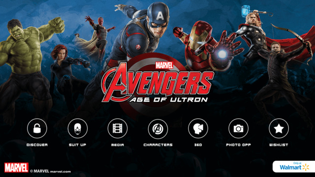 MARVEL's The Avengers Age of Ultron Avengers Super Heroes Assemble App Home Screen
