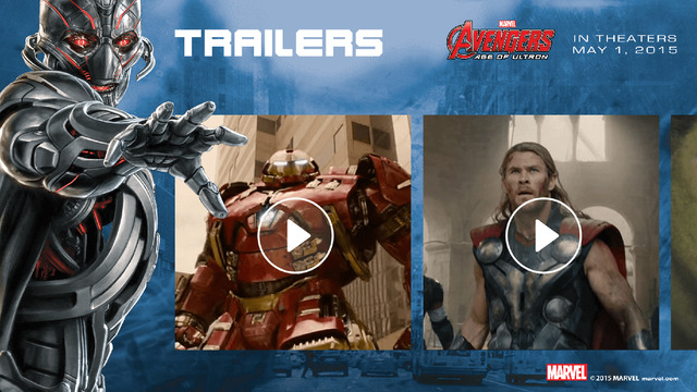 MARVEL's The Avengers Age of Ultron Avengers Super Heroes Assemble App Watch Movie Trailer