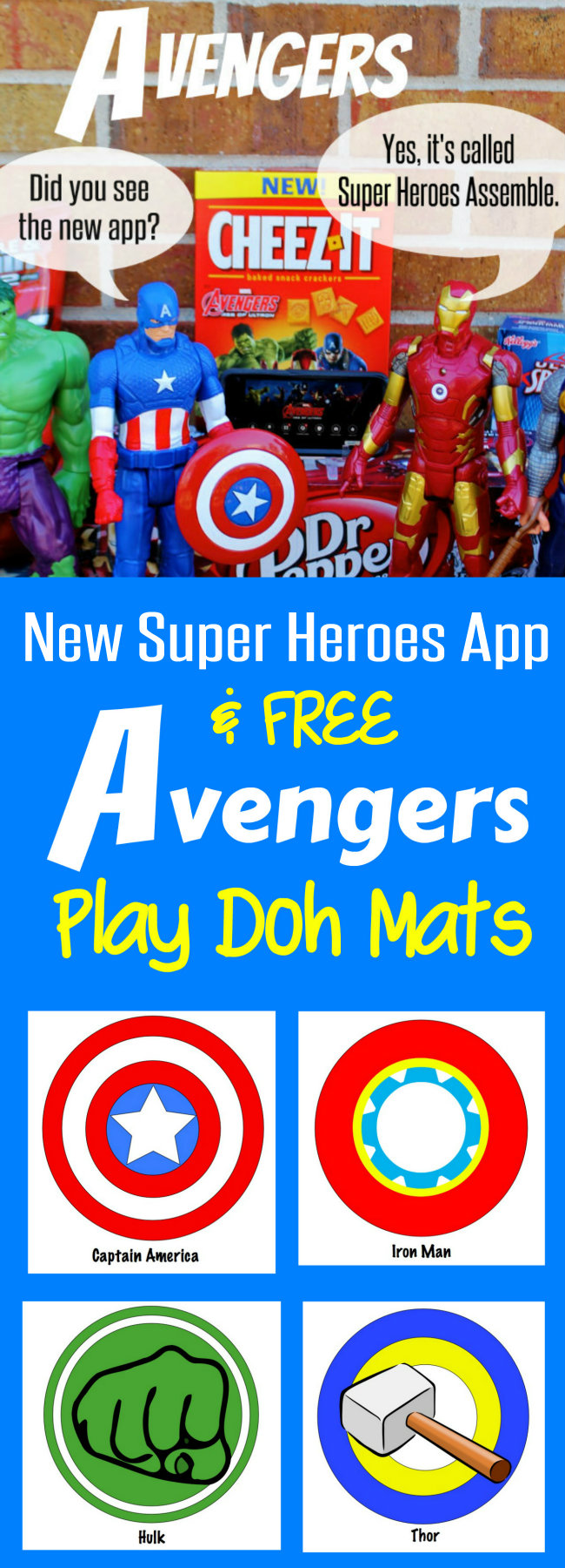 New Super Heroes Assemble App and FREE Avengers Play Doh Mats from HappyandBlessedHome.com plus enter to WIN $4,500 in Prizes
