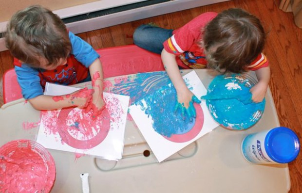 Our first attempt at Slime Red and Blue Goo