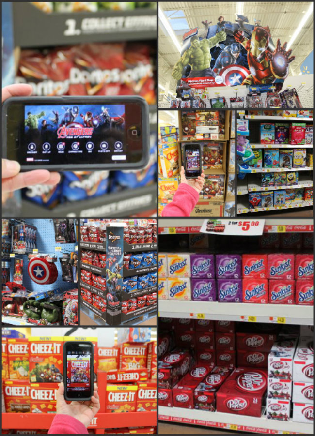 Scan Walmart Displays with MARVEL's The Avengers Age of Ultron Avengers Super Heroes Assemble App