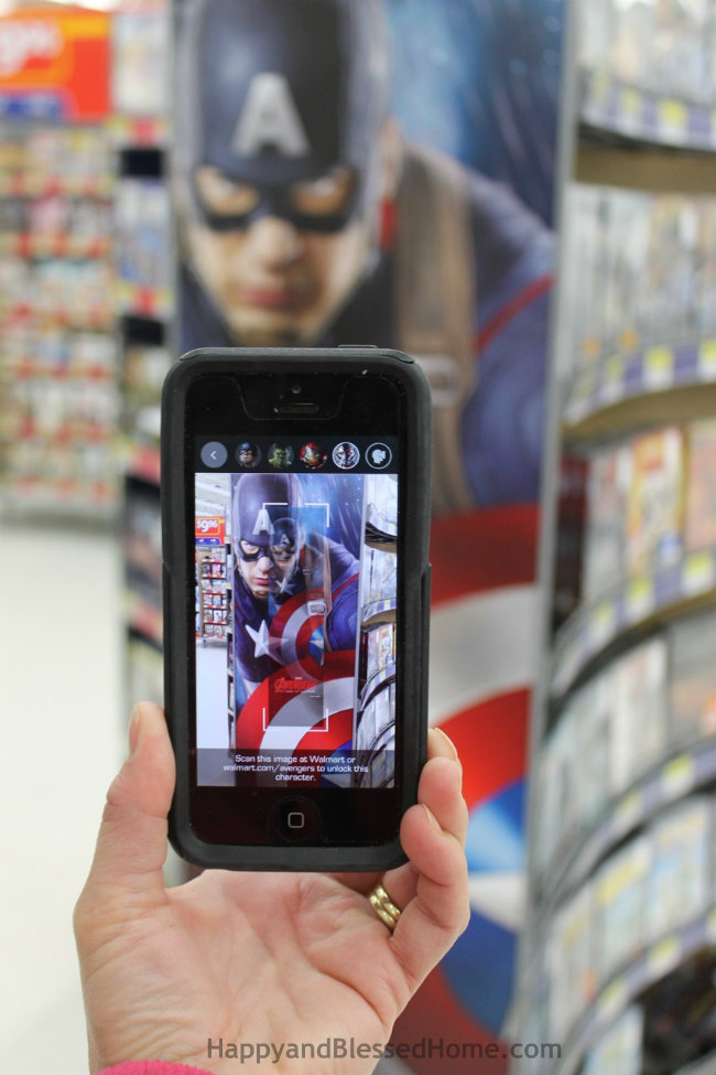 Scan at Walmart MARVEL's The Avengers Age of Ultron Avengers Super Heroes Assemble App Captain America