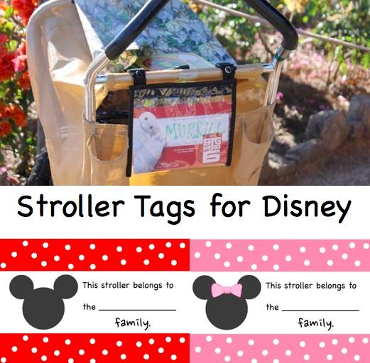 Stroller Tags for Walt Disney World Button
