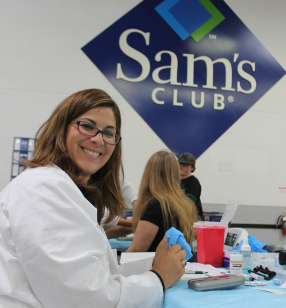 The professionals working the Sam's Health Screenings are friendly and efficient - Meet Carmen