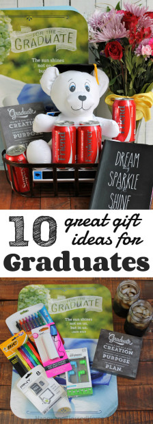 10 Great Gift Ideas for Grdauates with inexpensive ideas for personalizing a graduation gift from HappyandBlessedHome.com