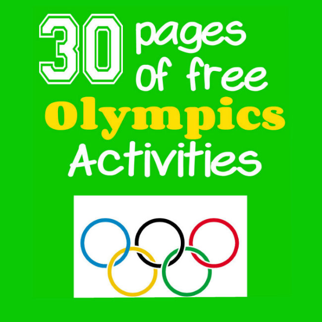 30 Pages of free Olympics Activities from HappyandBlessedHome.com