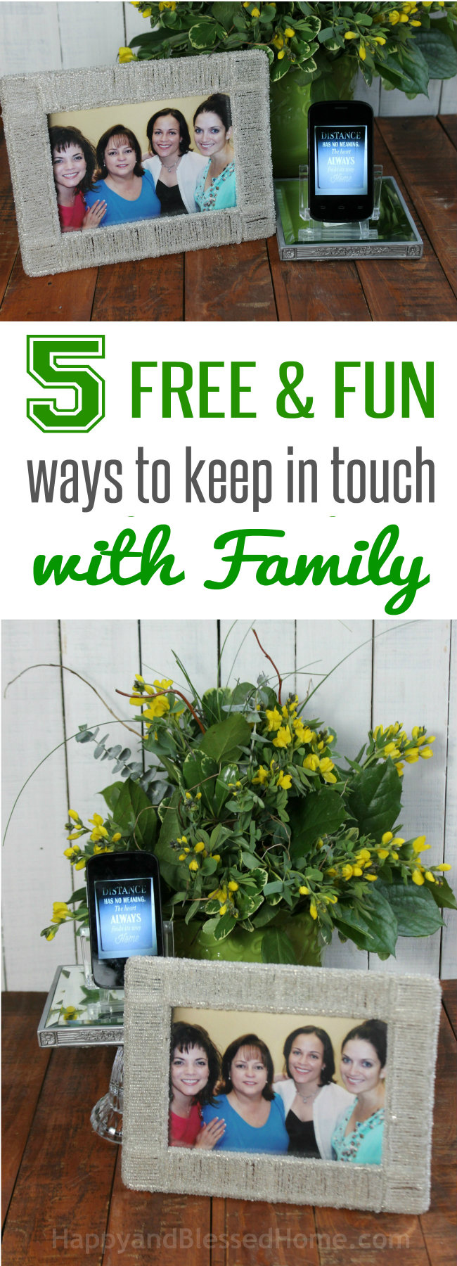 5 Free and Fun Ways to keepin touch with Family from HappyandBlessedHome