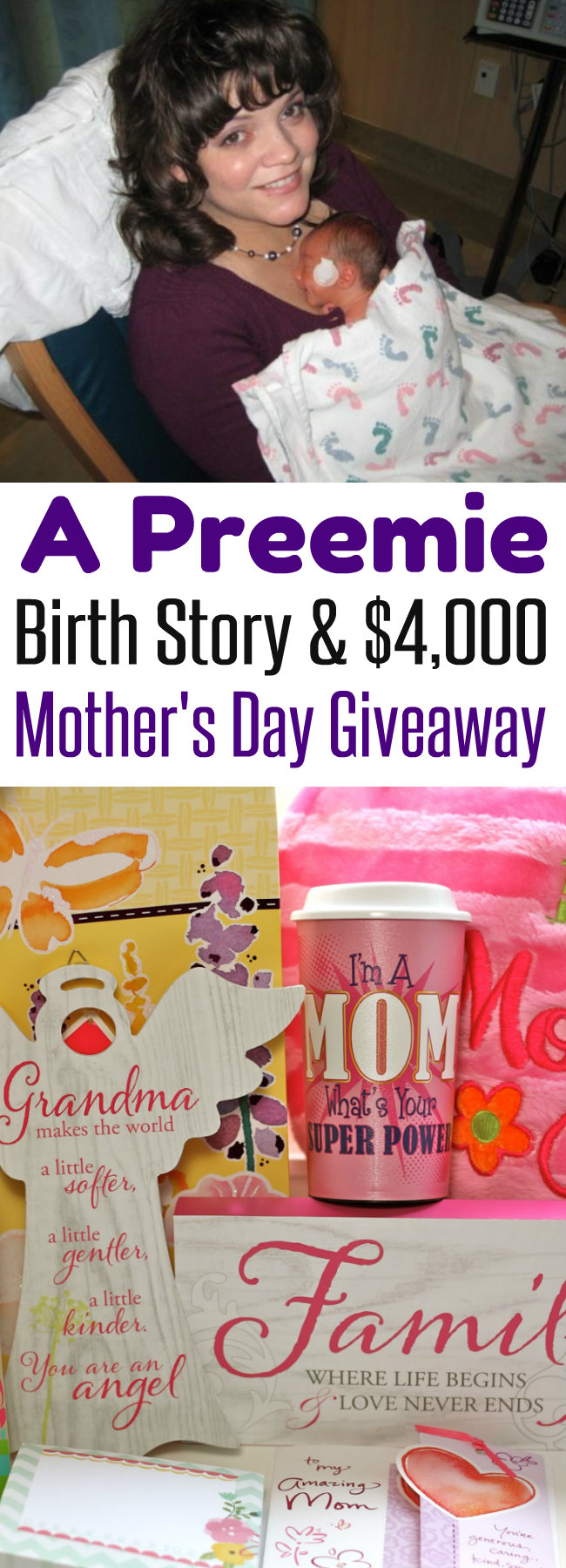 A Mother's Day to Remember A Preemie Birth Story and $4,000 Giveaway from HappyandBlessedHome.com