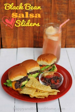 Black-Bean-Salsa-Sliders-and-Mango-Ice-Cream-Slush-Easy-Recipe-from-HappyandBlessedHome.com_