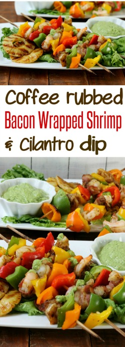 Coffee-Rubbed-Bacon-Wrapped-Shrimp-and-MAGGI®-Cilantro-Dip-you-can-broil-or-grill-from-HappyandBlessedHome1