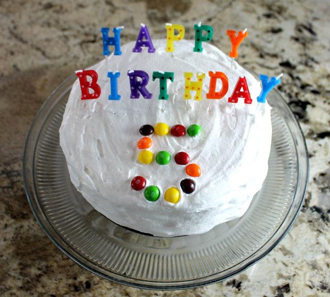 Colorful Happy Birthday Ice Cream Cake - easy ice cream cake recipe by HappyandBlessedHome.com