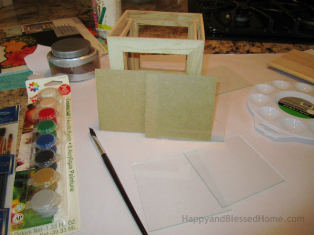 DIY Father's Day Gift Wood Photo Box - easy to make and personalize gift ide for Father's Day from HappyandBlessedHome.com
