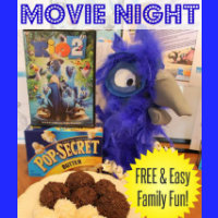Rio 2 Movie Night Family Fun Button