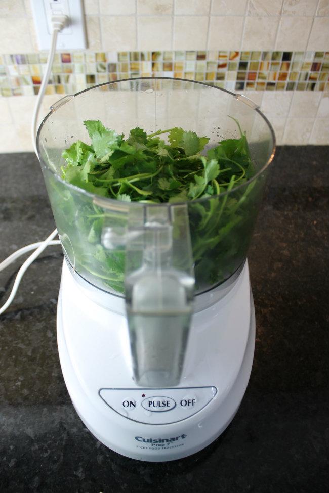 Use a food processor to create the Cilantro Pesto