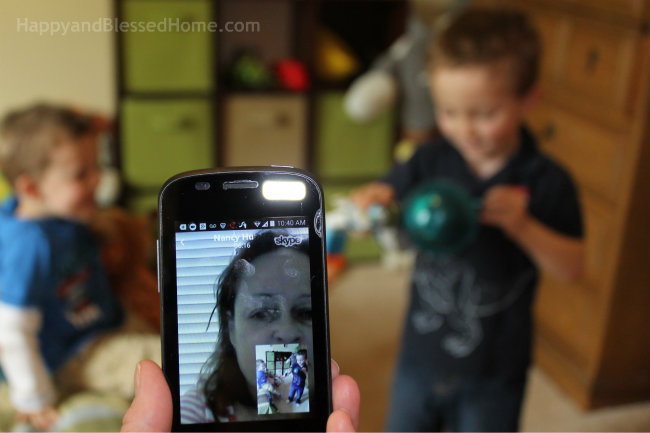 Using Skype to Keep in touch with Family from HappyandBlessedHome.com