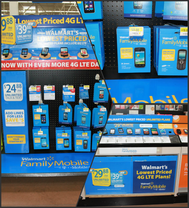 Walmart Family Mobile Plan for less than $30 Per Month