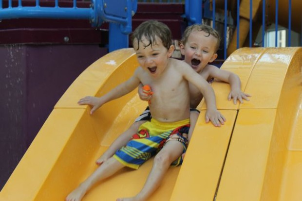 Water Slide Fun #ETHANProject Summer 2015 Photo Copyright 2015 HappyandBlessedHome