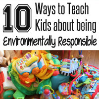 10 Ways to teach Kids to be Environmentally Responsible from HappyandBlessedHome.com Button