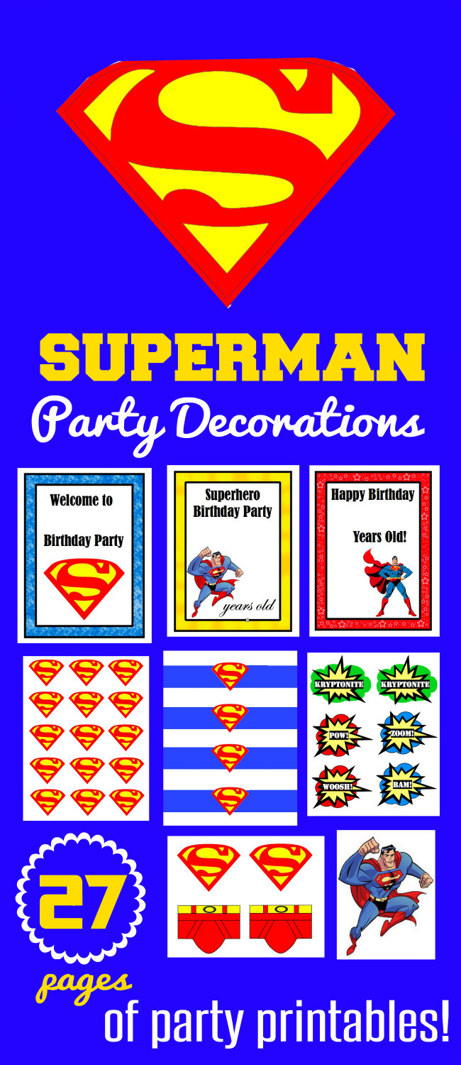 Superman Party Printables