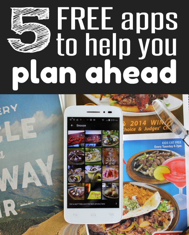 5 FREE Apps to Help you Plan Ahead tips from HappyandBlessedHome.com