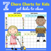 7 FREE Chore Charts for Kids Get Kids to Clean by HappyandBlessedHome.com