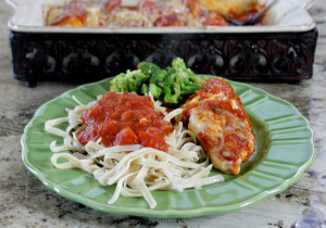 Chicken Parmesan easy gluten free recipe from HappyandBlessedHome.com