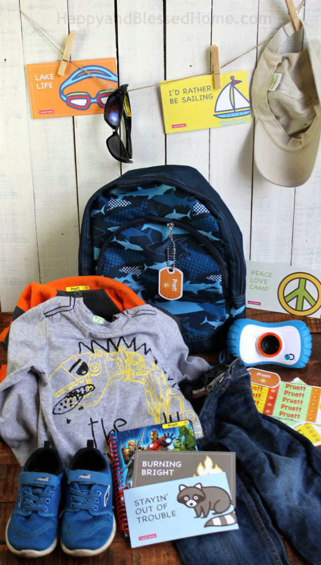 Clothes and Gear for Summer Camp Photo Copyright 2015 HappyandBlessedHome