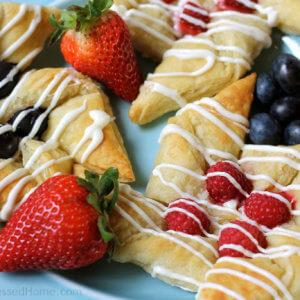 Cream Cheese and White Chocolate Pinwheels with Berries