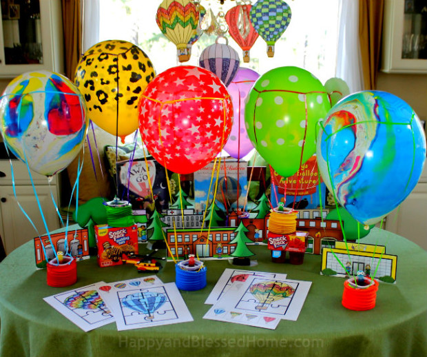 Create a Hot Air Balloon Classic with Snack Pack Juicy Gels and FREE Hot Air Balloon printables from HappyandBlessedHome