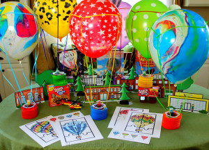 Create a city and hot air balloon race with these free party printables from HappyandBlessedHome