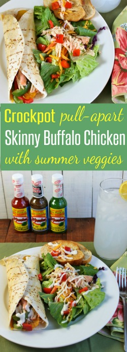 Crockpot-pull-apart-Skinny-Buffalo-Chicken-with-Summer-Vegetables-Recipe-from-HappyandBlessedHome.com_
